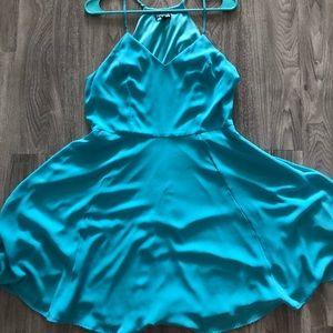 Blue V-Neck Express Dress